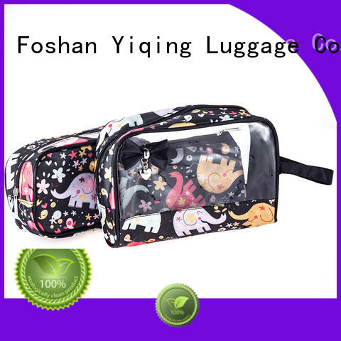 Yiqing Luggage transparent clear cosmetic bags with handles for sale for travel