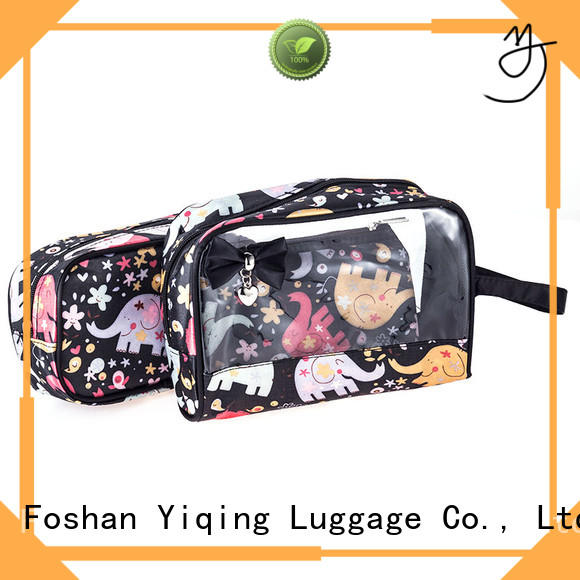 Yiqing Luggage transparent clear plastic travel bag wholesale for woman