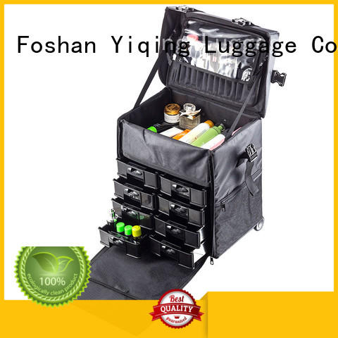 Yiqing Luggage professional makeup luggage on wheels for sale for work