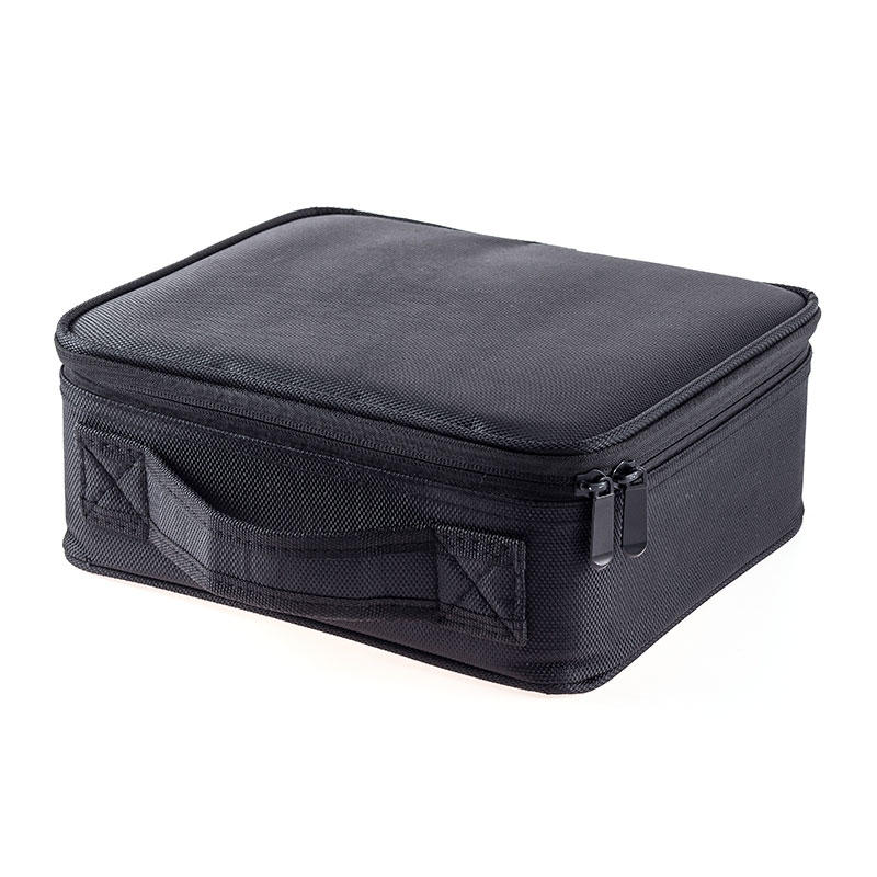 Double Zipper Makeup Bag Hand-held Makeup Bag Travel Bag Easy to Receive Separator JJQ-056