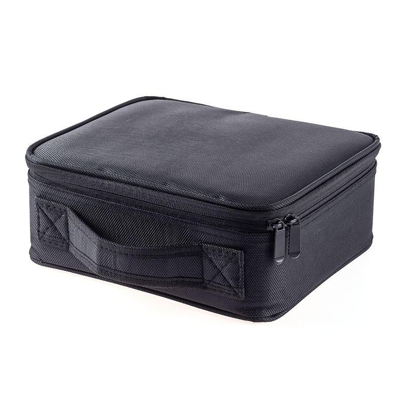 Double Zipper Makeup Bag Hand-held Makeup Bag Travel Bag Easy to Receive Separator JJQ-056