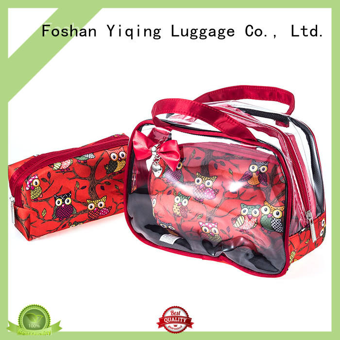 Yiqing Luggage transparent transparent makeup pouch wholesale for woman