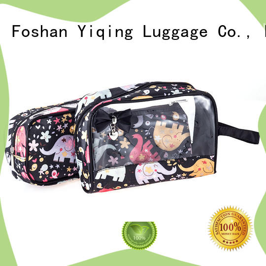 Yiqing Luggage transparent clear cosmetic bags wholesale for man
