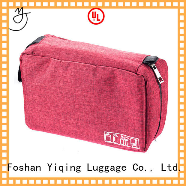 Yiqing Luggage customized wholesale canvas makeup bags supplier for man