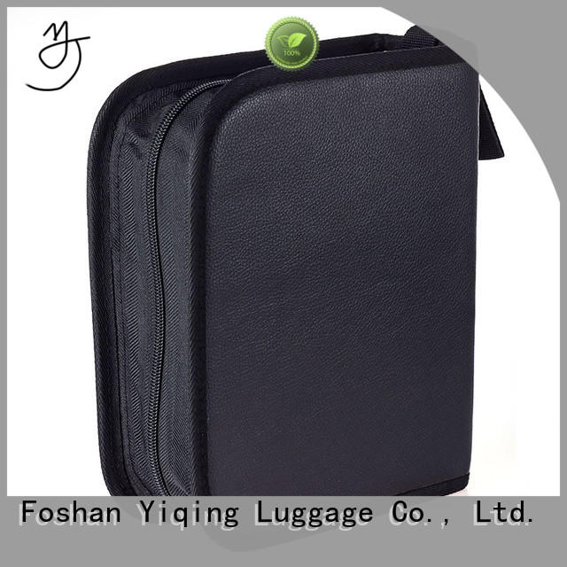 Yiqing Luggage portable personalized leather makeup bag wholesale for woman