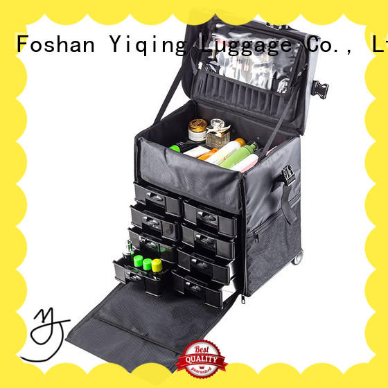 professional makeup travel case on wheels on wheels for women