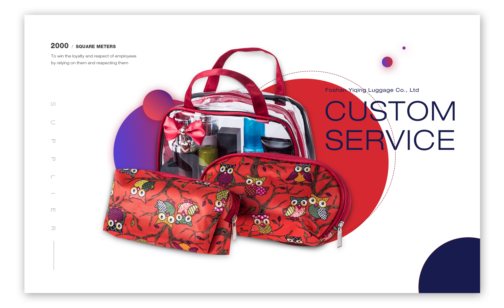 Custom cosmetic bag manufacturer