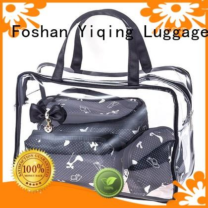 Yiqing Luggage clear clear cosmetic bags with handles customization for man