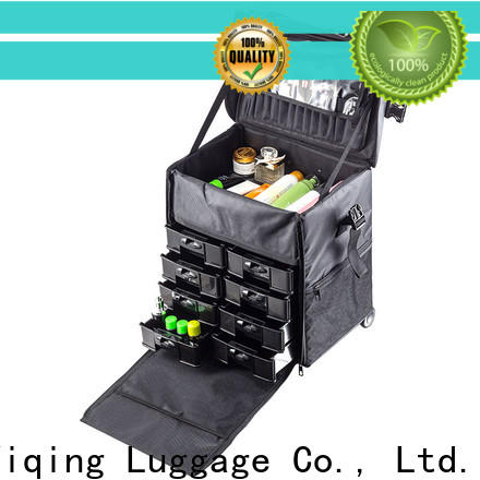 Yiqing Luggage fashion makeup box on wheels on wheels for work