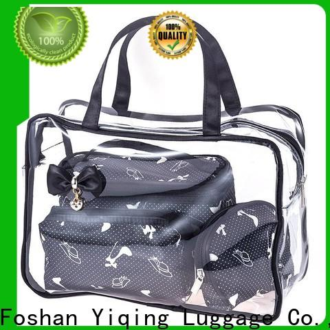 transparent clear plastic travel bag customization for woman