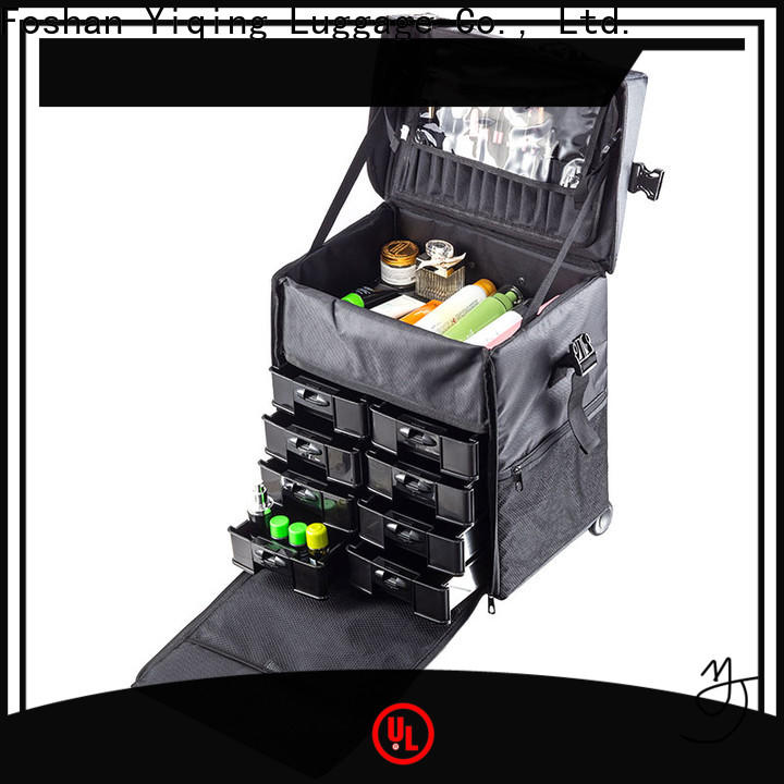 professional professional rolling makeup case on wheels for travel