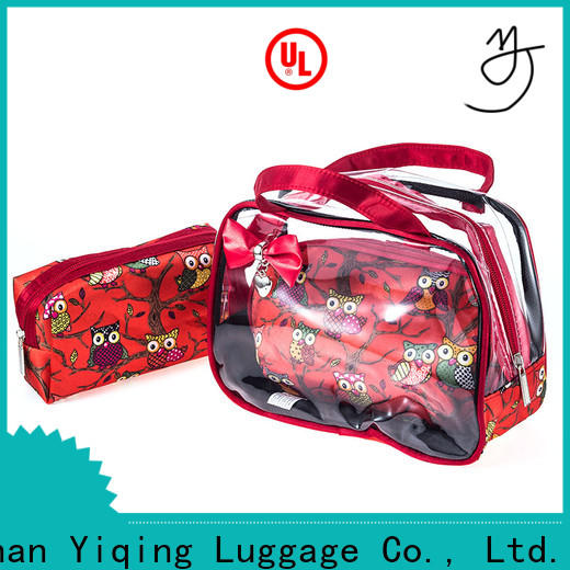 Yiqing Luggage transparent clear pvc makeup bag for sale for woman