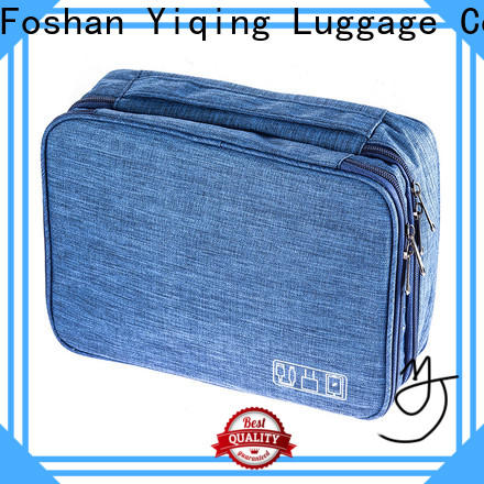 Yiqing Luggage waterproof canvas cosmetic bag brand for man