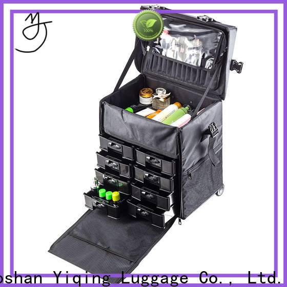 Yiqing Luggage professional beauty trolley case on wheels