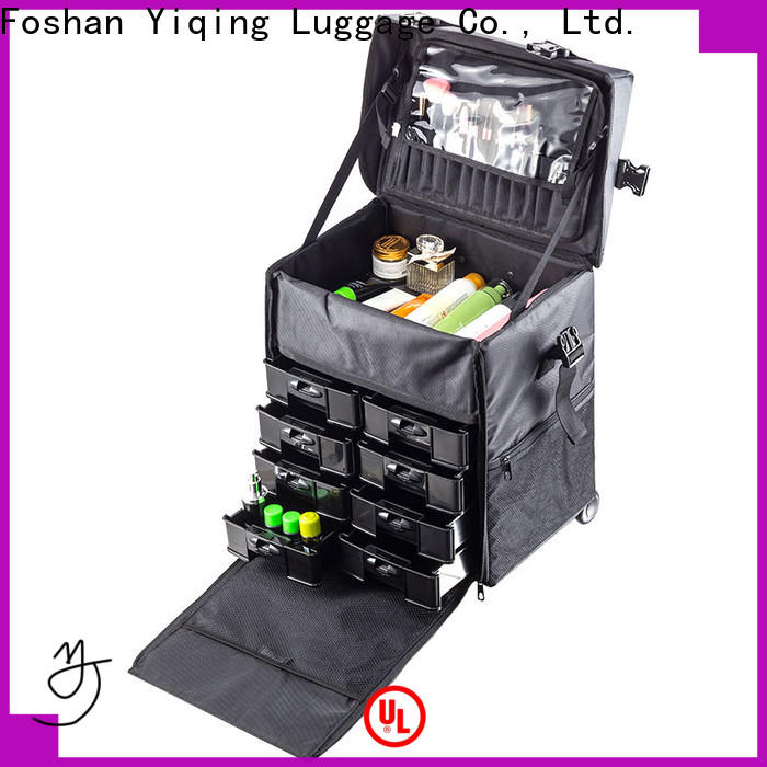 Yiqing Luggage cosmetic case trolley on wheels