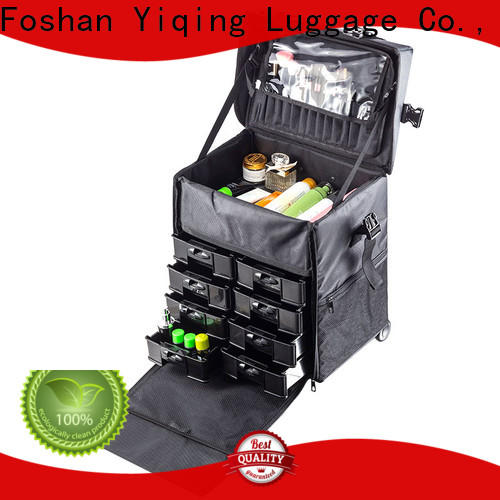 professional makeup trolley bag on wheels for women